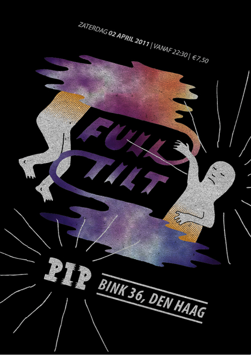 grafisch ontwerp flyer pip feest