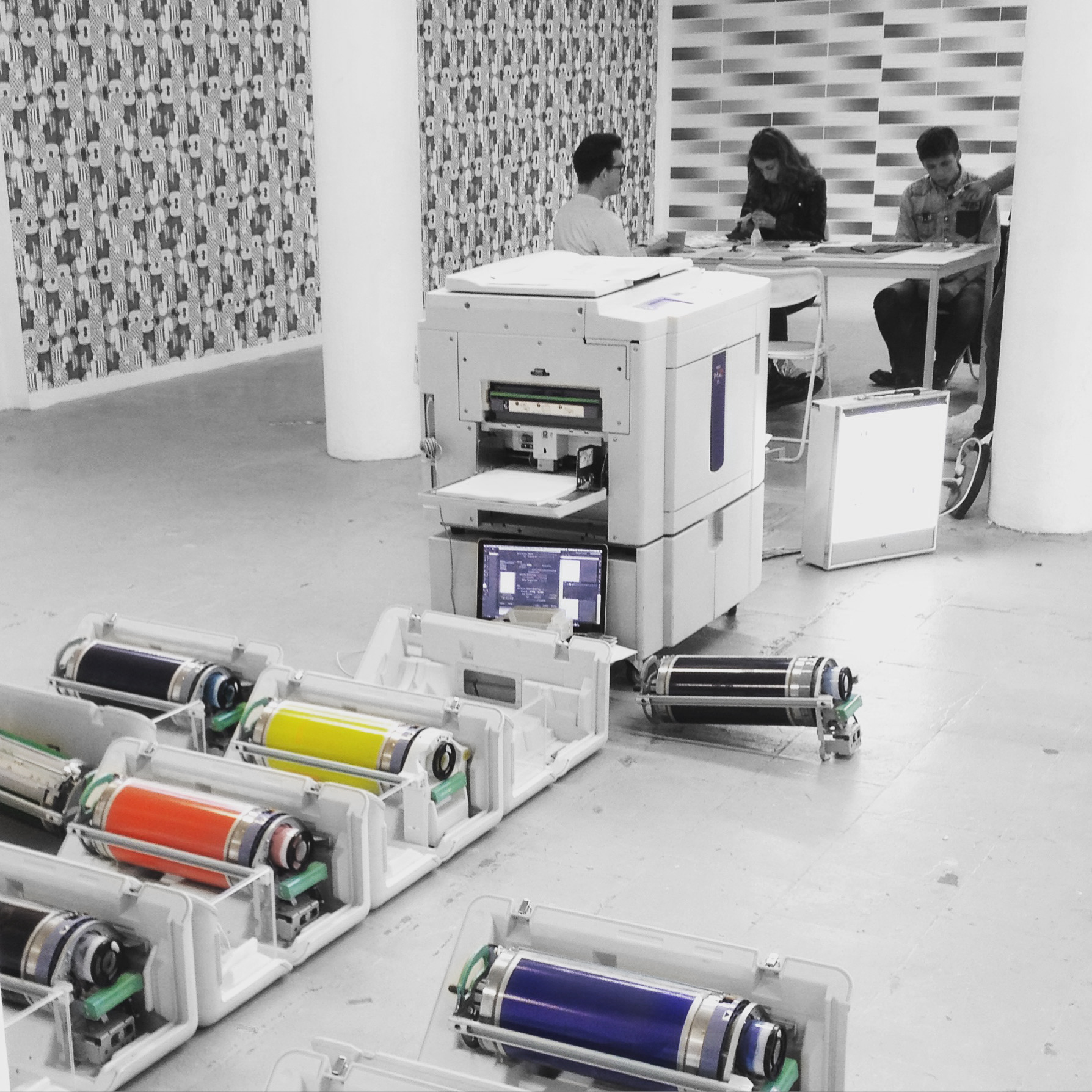 kleuren risograph inkt